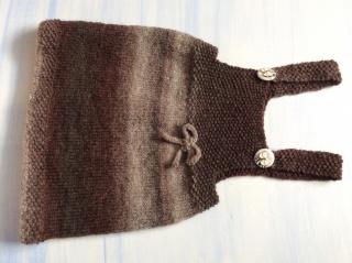Baby's Trägerrock mit Alpaka * Gr.62/68 edel und süß