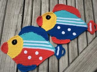 1 Paar Topflappen * Amazonas Fische * Küchenhelfer