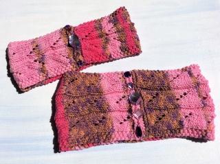 Baumwoll- Loop mit passendem Stirnband für 3-5jährige Mädels * Handarbeit