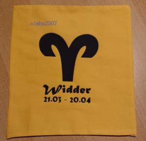 500 g Wärmekissen Dinkel Sternzeichen Widder Motiv - Handarbeit kaufen