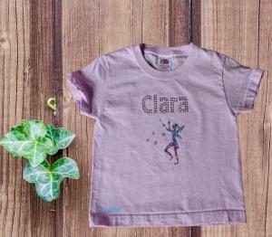 T-Shirt für kleine Elfen mit Namen personalisierbar Größe 98  - Handarbeit kaufen