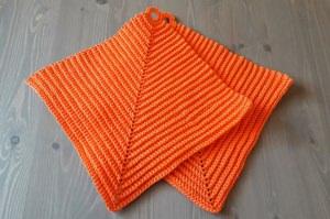 Kunterbunt und praktisch, Topflappen - orange
