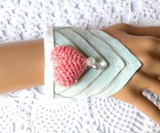 Stoffarmband/Manschette aus verschiedenen Textilien im BoHo Style