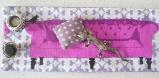 Stoffarmband/Manschette mit einer Eidechse im BoHo Style,Vintageknöpfe (Kopie id: 100087948)