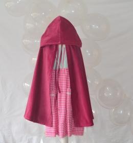 Rotkäppchenkostüm, Rotkäppchenumhang, Samtumhang, Karnevalskostüm für Mädchen