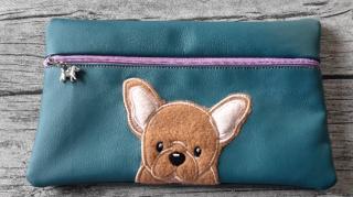 Tasche französische Bulldogge für E-Book, Kosmetik, Stifte, Diabetiker und anderes (Kopie id: 100121651)