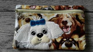 Tasche, E-Booktasche, Mäppchen, Kosmetiktasche, Diabetikertasche, Malteser Hund
