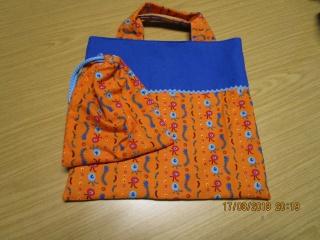 Kindergartentasche und Murmelsäckchen für den Kindergarten