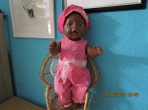 2 tlg. Puppenset für die Puppengröße 40-45cm Jumpsuit für den Sommer Puppenkleidung  - Handarbeit kaufen