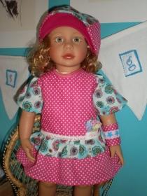 eine wunderschönes 3tlg.  Set  für die Puppengröße  ca. 50 cm - Puppenkleidung - Handarbeit kaufen