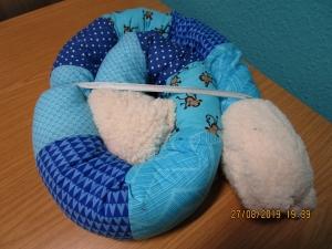Lagerungskissen Puckschnecke blau Bettrolle Stillkissen  - Handarbeit kaufen
