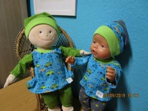 3tlg. Puppenkleidung  Hose, T-Shirt und Mütze für Puppengröße 40-45cm mit Cars - Handarbeit kaufen