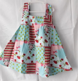 Sommerkleidchen in Größe 86 bis 92 bunt leicht luftig   - Handarbeit kaufen