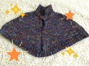 Poncho handgestrickt bunt für Babys in Größe von 80 - 86 für Mädchen und Jungen - Handarbeit kaufen