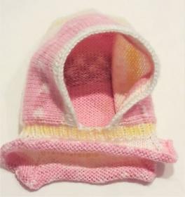 Babymütze, Schlupfmütze, Strickmütze handgestrickt für Neugeborene Mädchen KU 44-48 cm - Handarbeit kaufen