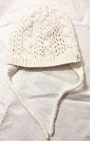 Babymütze, Strickmütze handgestrickt in wollweiß für Neugeborene Mädchen und Jungen, KU 44-48 cm - Handarbeit kaufen
