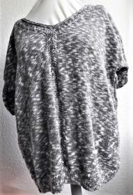 Strickpulli für Damen in Größe 42-44, handgestrickt, kurzärmelig, meliert  - Handarbeit kaufen