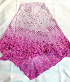 Dreieckstuch, Stola, Schultertuch rosa Farbverlauf für Frauen gestrickt - Handarbeit kaufen