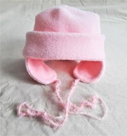 Babymütze in rosa für Neugeborene Mädchen KU 42-44 cm  - Handarbeit kaufen