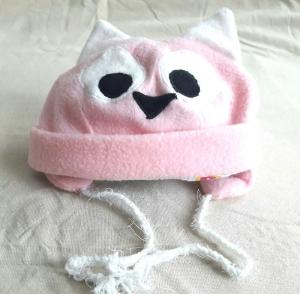 Babymütze als Eulenmütze in rosa für Babys Mädchen KU 48-52 cm,  - Handarbeit kaufen