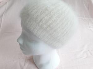 SALE - Wollmütze handgestrickt in wollweiß Größe M für Frauen und Männer - Handarbeit kaufen