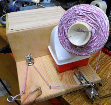 elektrisch betriebener Wollwickler Umbau von Daruma Hometwister