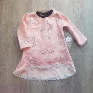 Pullover * Tunika * Sommersweat * rosa meliert * Gr.86 * Unikat * Feen - Handarbeit kaufen