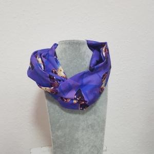 Loop * Schal * Schmetterling * lila * blau * Herbst * Jersey - Handarbeit kaufen