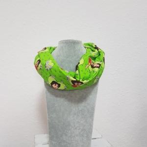 Loop * Schal * Heidi * grün * Herz * Blumen * Unikat * Jersey - Handarbeit kaufen