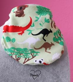 Halstuch * Dschungel * Koala * Känguruh * Krokodil * grün * Unikat * Jersey - Handarbeit kaufen