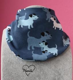 Halstuch * Hunde * blau * weiß * Unikat * Jersey - Handarbeit kaufen
