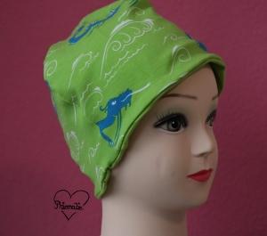 Mütze * Seemonster * Jersey * Nessie * Drache * grün * blau * Ku ca. 53/54cm - Handarbeit kaufen