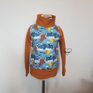 Pullover mit Loopkragen * Hoodie * Sweat * Gr.92/98 * Hund * Horst der Himmelsstürmer - Handarbeit kaufen