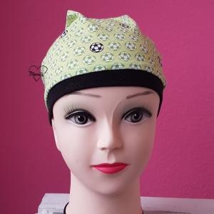 Mütze * Fußball * Jersey * Ku. ca53-54cm * grün * schwarz * Unikat - Handarbeit kaufen