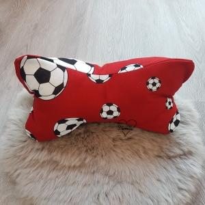Leseknochen klein * Kissen * Fußball * rot * blau * Name * Unikat - Handarbeit kaufen