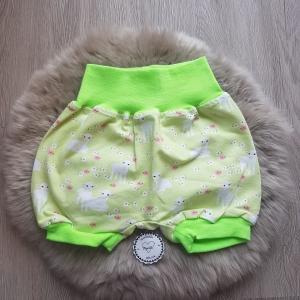 Hose * Pumphose kurz * Schafe * Gr.86/92 * Jersey * grün * Lamm - Handarbeit kaufen