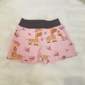kurze Hose * Shorts * Giraffen * Gr.86/92 * meliert * rosa * Schmetterlinge * Jersey     - Handarbeit kaufen