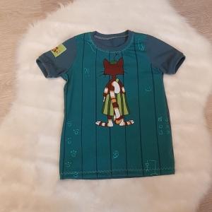 Shirt * Pettersson & Findus * Gr.110/116 * grün * Sommer * Unikat * Jersey    - Handarbeit kaufen