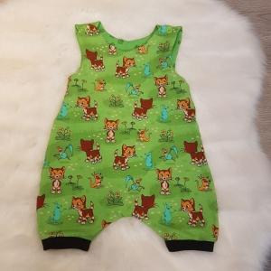 Strampler * Sommer * grün * Findus Baby * Pettersson & Findus * Gr.74/80 * Unikat * Jersey   - Handarbeit kaufen