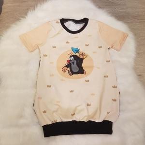Longshirt * Shirtkleid * Gr.98/104 * der kleine Maulwurf * Pauli *  beige * Sommer * Unikat * Jersey   - Handarbeit kaufen