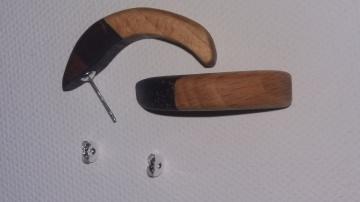 Edelholz Ohrring verschiedene Edelhölzer in einem