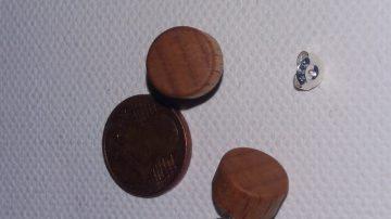 Plug Fake Ohrstecker aus Fichte 12 mm Durchmesser