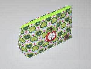 Kosmetiktasche im Apfeldesign - Krims Krams Tasche