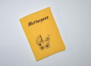 Mutterpasshülle - Schutzhülle für Mutterpass - Stickerei