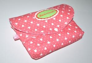 Büchertasche - Buchtasche - Schutzhülle - Herzenmotiv