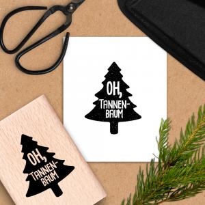 Holzstempel für Weihnachten - Oh, Tannenbaum - 6x4 cm