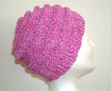 Kindermütze, Beanie für Mädchen 1-4 Jahre in rosa  mit Glitter