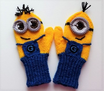 Fäustlinge, Handschuhe Minions für Kinder 2-4 Jahre