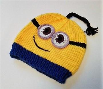 Mütze, Haube für Kinder  Minions 2-4 Jahre