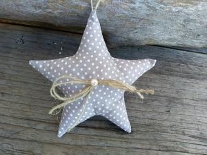 Verkaufe  mit Liebe genähten Stern,Stoffstern, Weihnachten,Stoffanhänger Sterne
